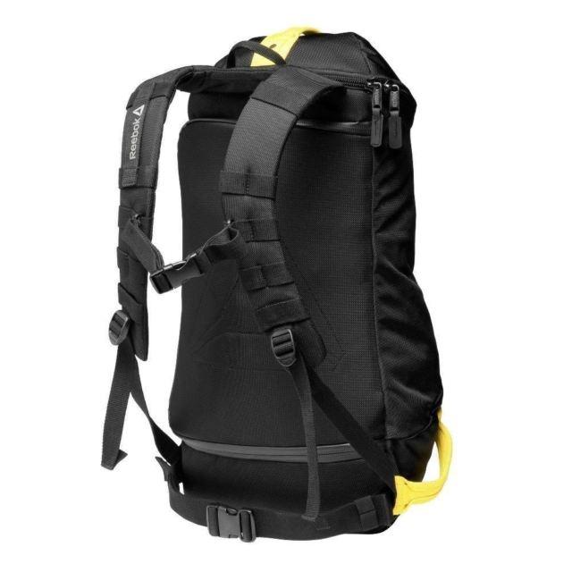 Черно-желтый рюкзак-сумка (вещевой мешок, туристический рюкзак) Crossfit 2014 Games  - 1