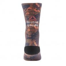Мужские спортивные носки Reebok, оранжевые, средняя длина - 1