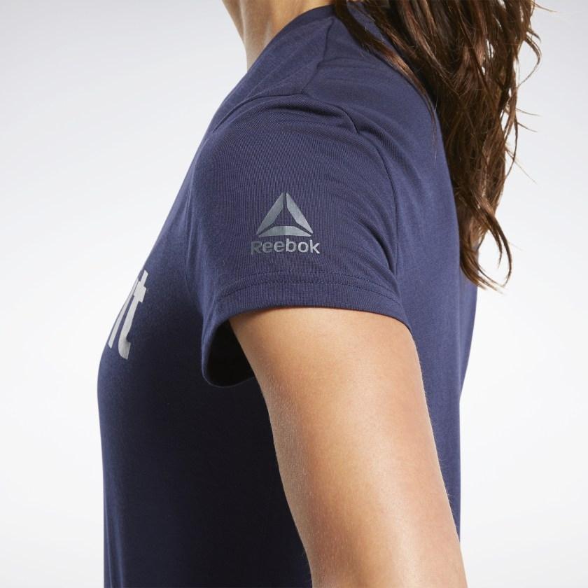 Жіноча футболка REEBOK CROSSFIT® READ GRAPHIC, темно-синя - 2