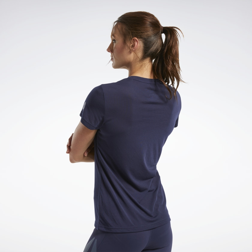 Жіноча футболка REEBOK CROSSFIT® READ GRAPHIC, темно-синя - 1